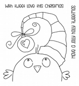 Woodware - Birdy Baubles - Clear Magic Single Stamp Set - FRS661